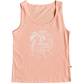 Roxy Red Lines Color Top Tri sin Mangas Mujer, salmon